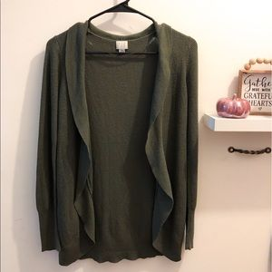 🌙 A New Day Olive Green Open Cardigan